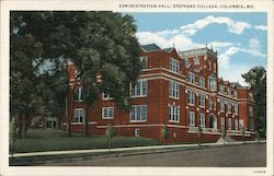 Administration Hall, Stephens College Postcard