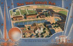 New York World's Fair, Court of the States Building Postcard