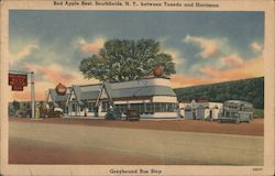 Greyhound Bus Stop, Red Apple Rest