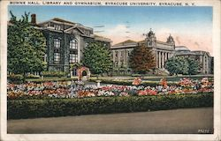 Bowne Hall, Library and Gymnasium, Syracuse University Postcard