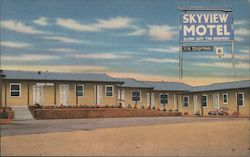 Skyview Motel Postcard