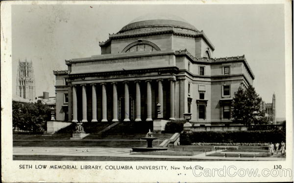 Seth Low Memorial Library, Columbia University New York City