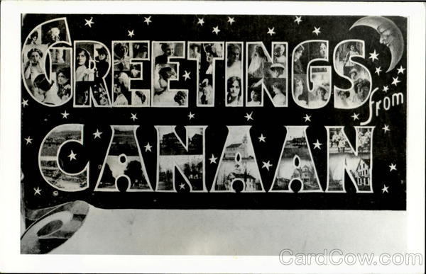 Greetings From Canaan Large Letter