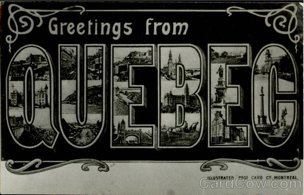 Greetings From Quebec Canada Large Letter