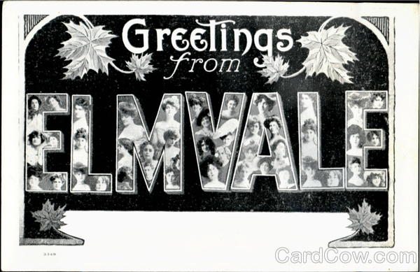 Greetings From Elmvale Ontario Canada Large Letter