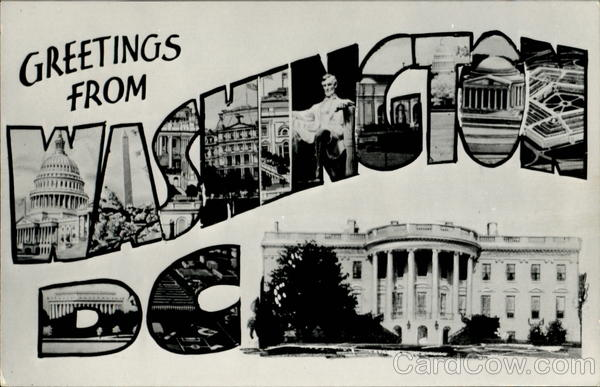 Greetings From Washington District of Columbia