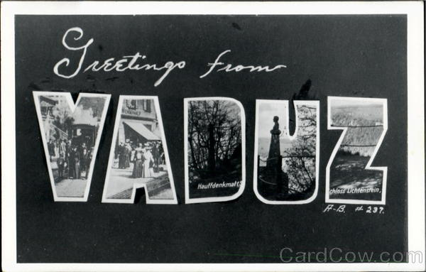 Greetings From Vaduz Liechtenstein Large Letter