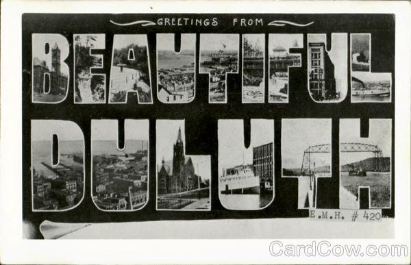 Greetings From Beautiful Duluth Minnesota Large Letter