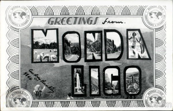 Greetings From Monda Ligo Club Large Letter