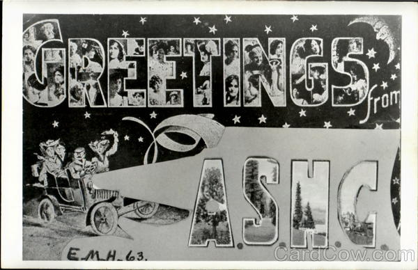 Greetings From A.S.H.C Large Letter