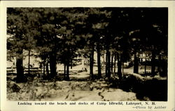 Looking Toward The Beach And Docks Of Camp Idlewild Lakeport