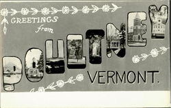 Greetings From Poultney Postcard