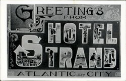Greetings From Hotel Strand Postcard