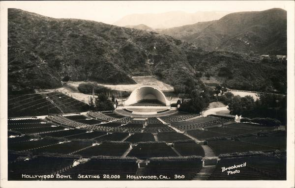 Hollywood Bowl Seating 20,000 California Brookwell Photo