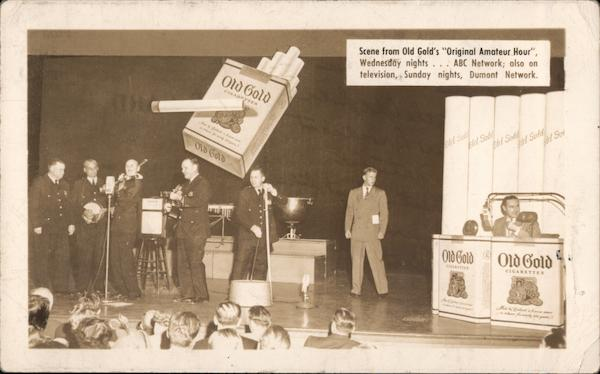 Scene from Old Gold's Original Amateur Hour ABC Advertising