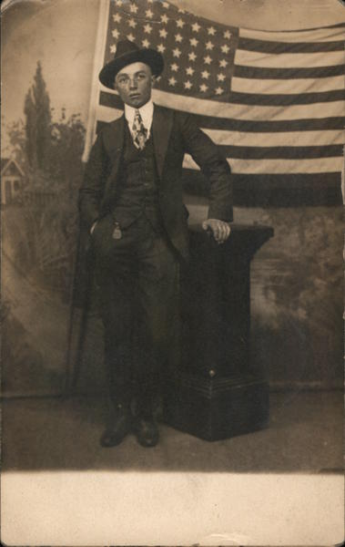 Well Dressed Man in Front of United States Flag Patriotic