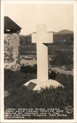 Cross Marking Place Where Frav Louis Jaume, Martyr, Was Killed By Indians, Nov. 4, 1775, Old San Diego Mission