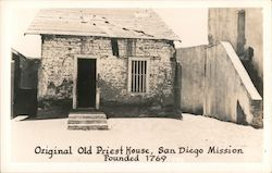 Original Old Priest House-San Diego Mission Founded 1769