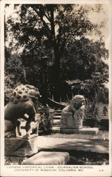 Chinese Historical Lions - Journalism School Postcard