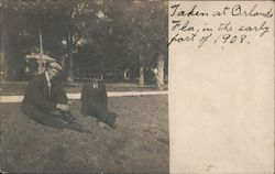 Men Sitting in Park