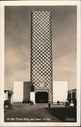 Polish Building and Tower - World's Fair 1939 Postcard