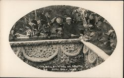 The Rev. at Work on Grotto Postcard