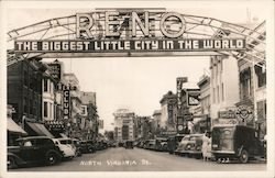 North Virginia St. Reno The Biggest Little City In The World Postcard