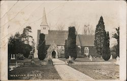 Saint Thomas of Canterbury Winklebury and Worting Church Postcard