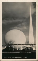 Trylon and Perisphere N.Y.W.F Postcard