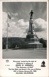 Monument Erected by the State of California in Memory of James W. Marshall