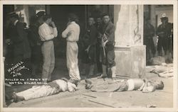 Killed in Front of Hotel Diligencias Mexican Border War Postcard