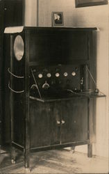 Cabinet Radio Built in 1920 Postcard