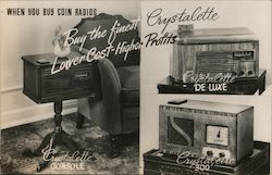 When You Buy Coin Radios Buy the Finest Crystalette Postcard