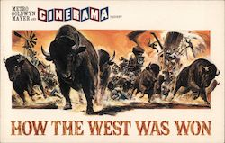 Buffalo Stampede - How The West Was Won Postcard