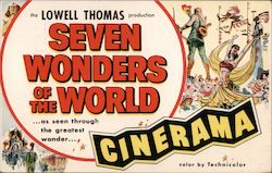 Seven Wonders of the World - Ambassador Theatre, Cinerama Postcard