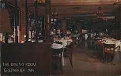 The Dining Room Greenbrier Inn Postcard
