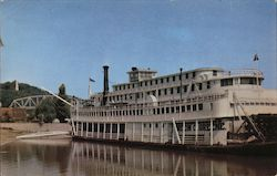 "The Stern-Wheeler Mississippi River Steamboat ""Gordon C. Greene"" At The Levee At Hannibal, Missouri Postcard"