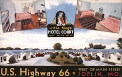 Little King's Hotel Court Postcard