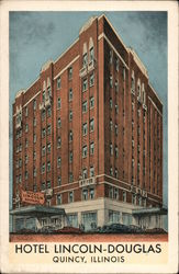 "Hotel Lincoln-Douglas 175 Rooms, Each WIth Bath, Air Conditioned Dining Room, Coffee Shop and Famous ""Doug-Out"" Grill Postcard"
