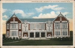 Library Building, University of Oklahoma Postcard