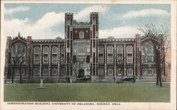 Administration Building, University of Oklahoma Postcard