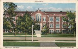 Engineering Building, Oklahoma University Postcard