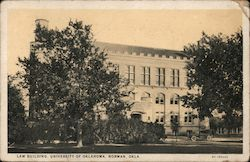 Law Building, University of Oklahoma Postcard