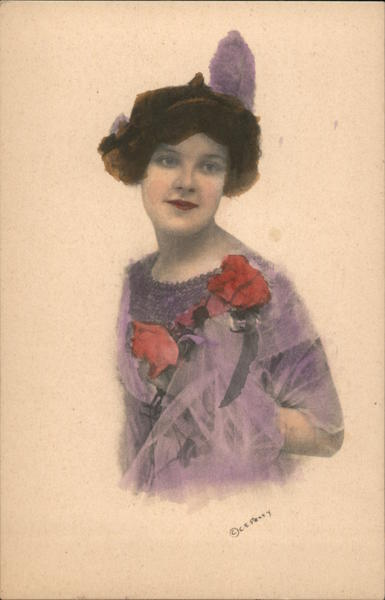 A Purple Dress with Red Roses - Women's Suffrage? C.E. Perry