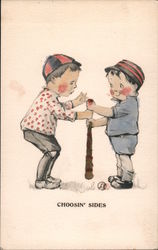 """Choosin' Sides"" for Baseball Postcard"