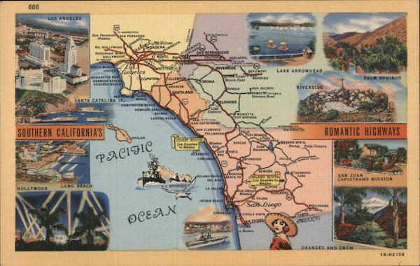 Map - Southern California Romantic Highways