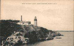 West Quoddy Light, Most Eastern Point U.S.A. Postcard