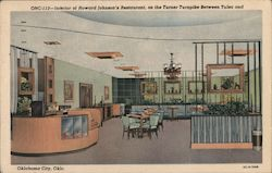 Interior of Howard Johnson's Restaurant, on the Turner Turnpike Between Tulsa and Oklahoma City Postcard