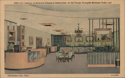 Interior of Howard Johnson's Restaurant Postcard