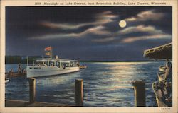 Moonlight Excursion on Lake Geneva, from Recreation Building